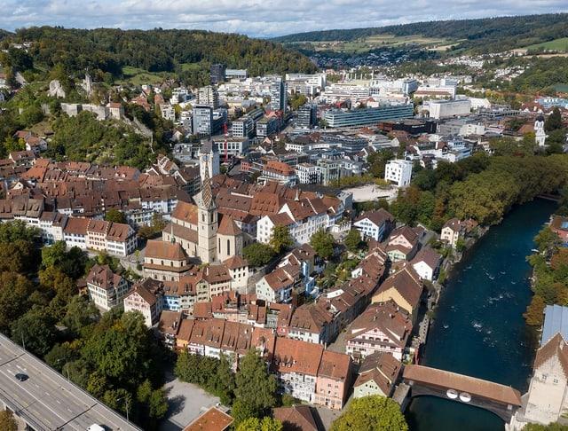 Blick auf die Badener Altstadt