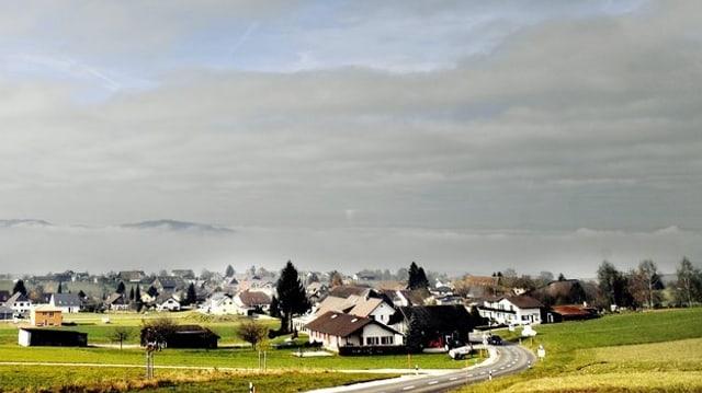 Blick auf das Dorf Bettwil.