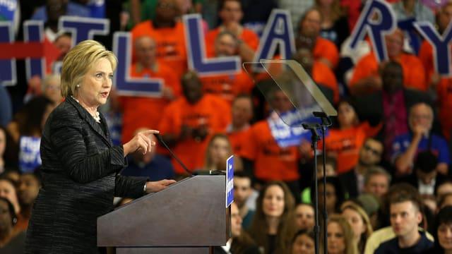Hillary Clinton bei einer Wahlkampfveranstaltung.