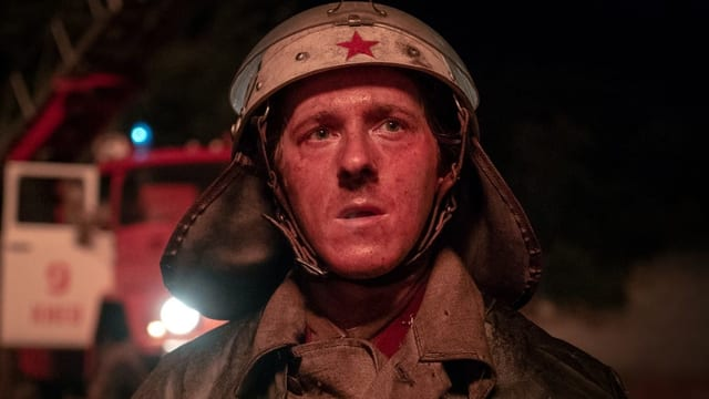 Feuerwehrmann bei den Löscharbeiten in Tschernobyl.
