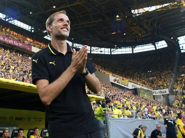 Tuchel im Stadion von Dortmund