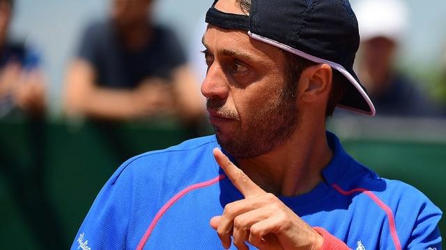 Paolo Lorenzi strebt seinen ersten Sieg in Wimbledon an.