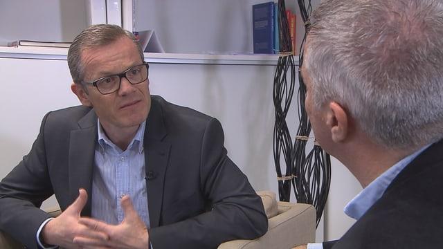 Thomas Frischknecht im Gespräch mit Reto Lipp.