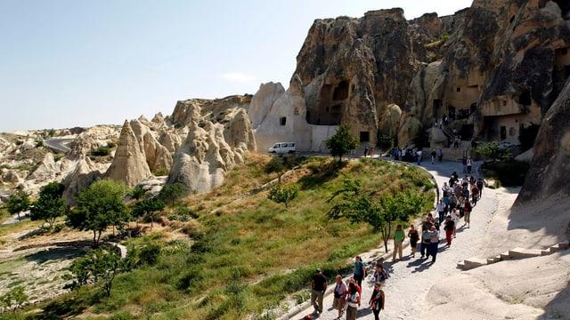 Touristen in türkischem Nationalpark