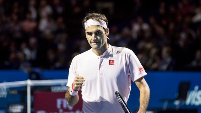 Roger Federer sa legra d'in punct ch'el ha fatg
