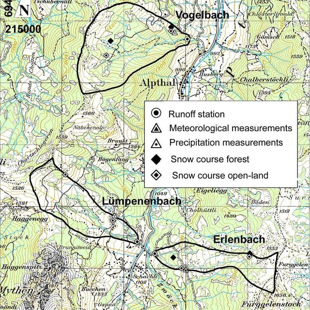 Eine Karte des Forschungsgebiets.