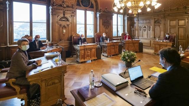 Der Bundesrat in aktueller Besetzung.
