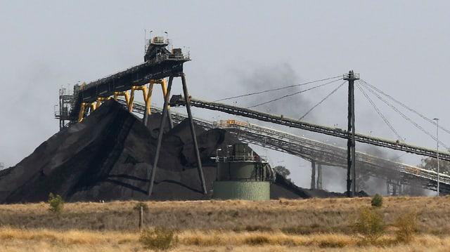 Das Kohlebergwerk Whitehaven bei Narrabri in der Nähe von Sydney