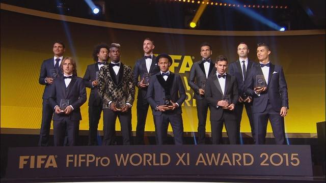 Die Weltauswahl des Fussballjahres 2015.