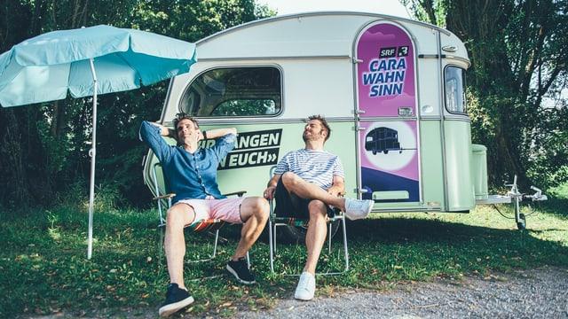Das ist der Carawahnsinn: Die Reise mit dem SRF 3-Wohnwagen startet am Montag, 27. Juli.
