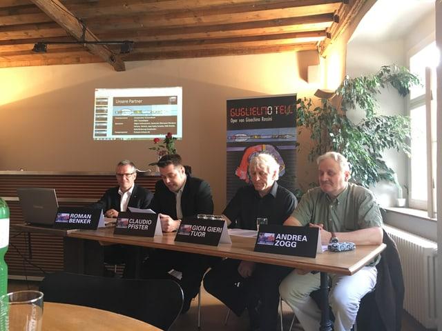 Andrea Zogg, Gion Gieri Tuor, Claudio Pfister, Roman Benker