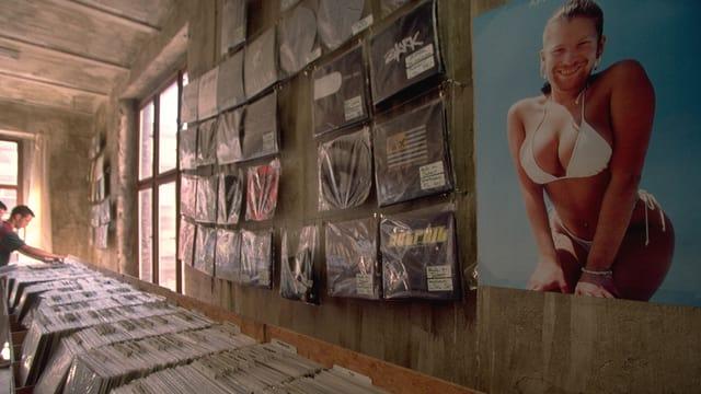 Ein Laden mit vielen Vinyl-Platten.