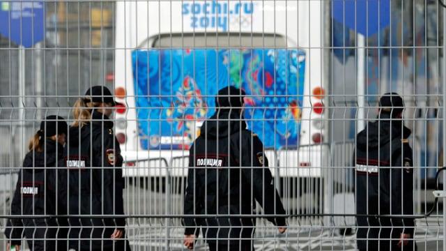 Russische Sicherheitskräfte in Sotschi.
