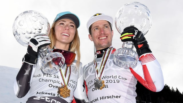 Mikaela Shiffrin e Marcel Hirscher