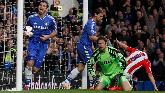 Frank Lampard erzielte beim Sieg über Stoke City das 2:0.