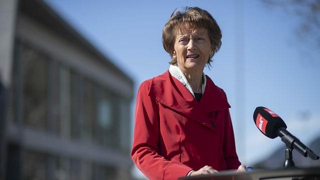 Anteriura cussegliera federala Eveline Widmer-Schlumpf.