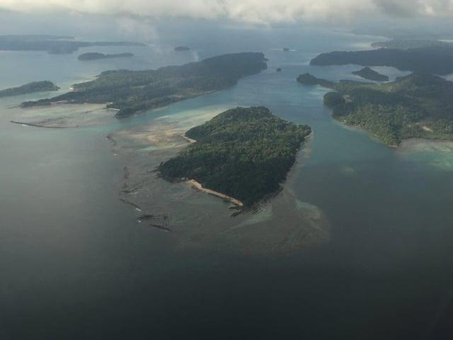 Die Andamanen aus der Vogelperspektive