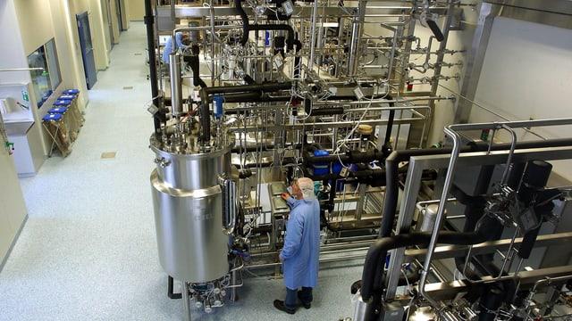 Pharmazeutische Produktionsanlage.