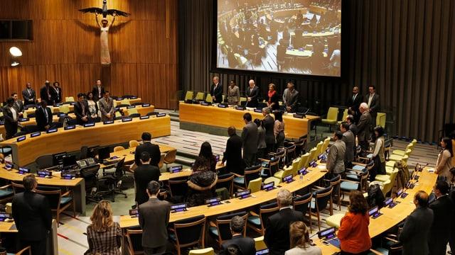 Saal der UNO-Generalversammlung von innen.