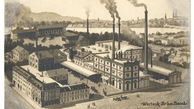 Die ehemalige Warteck-Brauerei in Kleinbasel.