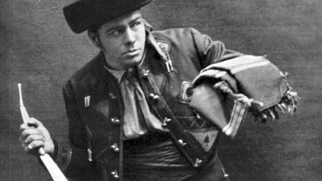 Ein belgischer Don José-Darsteller, anfangs des 20 Jahrhunderts.