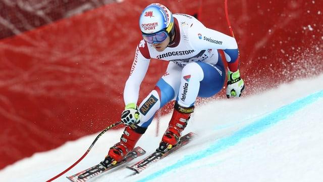 Mauro Caviezel va cun skis