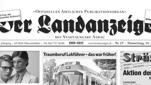 Titelblatt des «Landanzeiger»