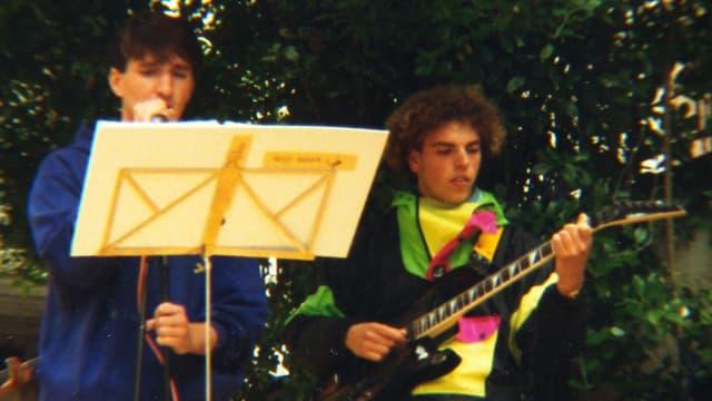 Als der jugendliche Hobbygitarrist beschloss, eine professionelle Musikerkarriere zu starten ...