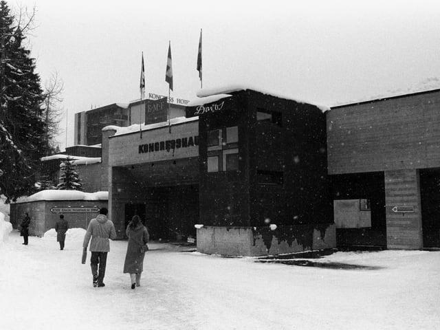 Blick auf das Davoser Kongresszentrum 1984