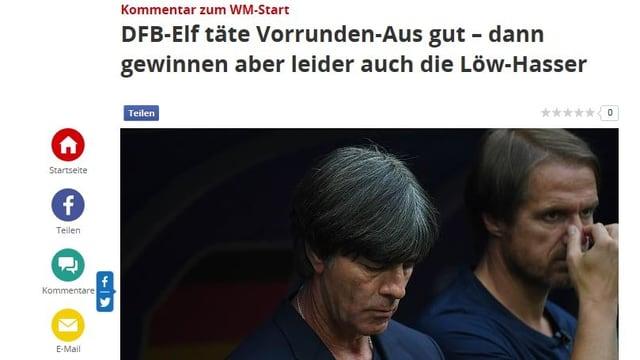 Die Schlagzeile auf focus.de