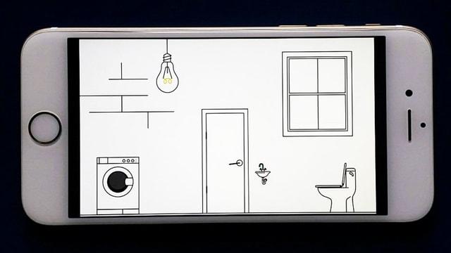 Ein Screenshot, der eine gezeichnete Toilette zeigt.
