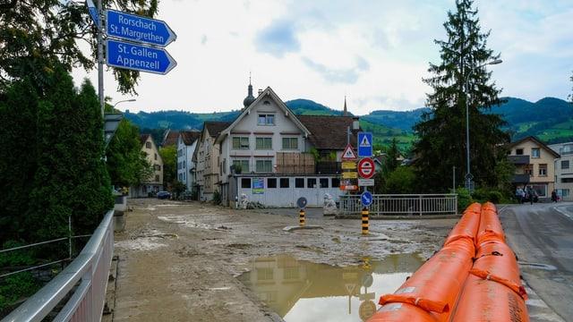 Solche Überschwemmungen wie hier im Bild will Altstätten nicht mehr erleben.