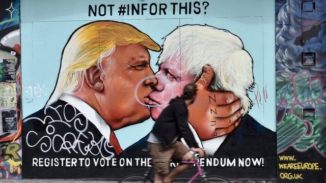 Protestplakat zu Trump und Johnson.