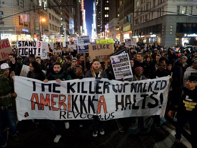 Protestzug in New York
