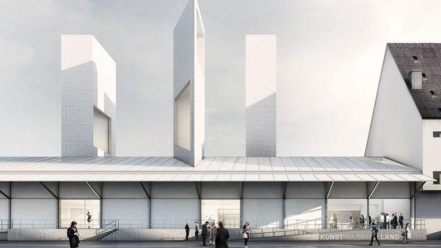 Entwurf für das neue Kunsthaus Baselland.