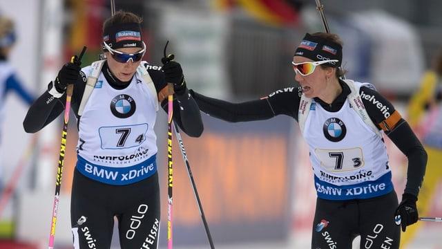 Selina Gasparin (r.) und ihre Schwester Aita.