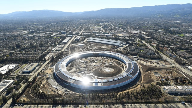 Der Apple Campus 2 in Cupertino