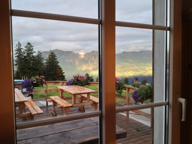 Abendstimmung auf der Alp Malbun