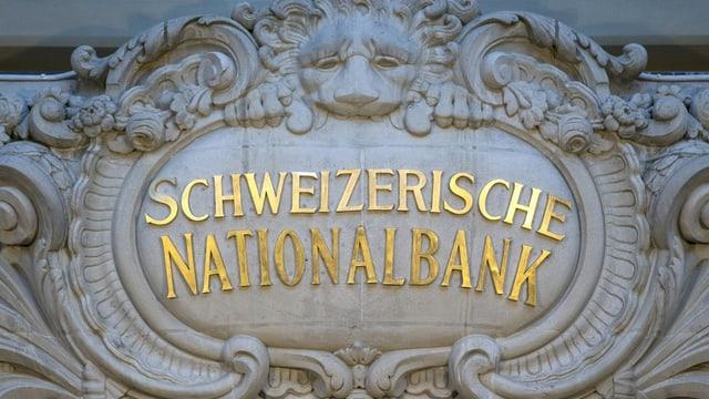 emblem da la banca naziunala svizra a la sedia principala