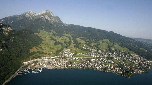 Luftbild der Gemeinde Hergiswil