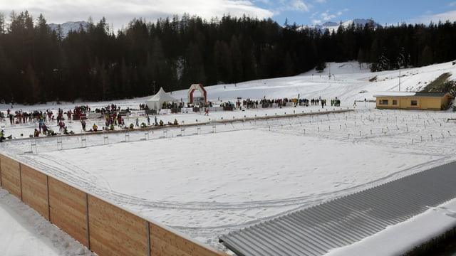 Die Arena in Lenzerheide bei der Einweihung vor 4 Jahren.