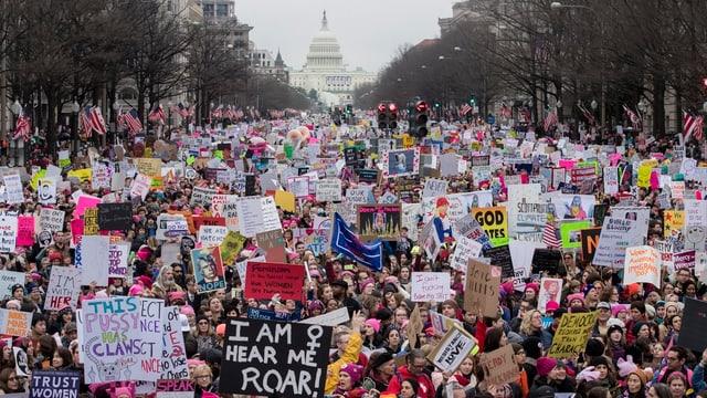 En la chapitala americana Washington han bun 500'000 persunas demonstrà encunter il nov president.