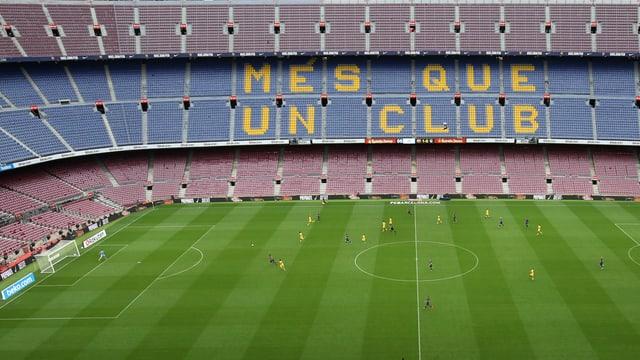 Leeres Camp Nou.