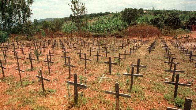 Ein Friedhof in Ruanda.