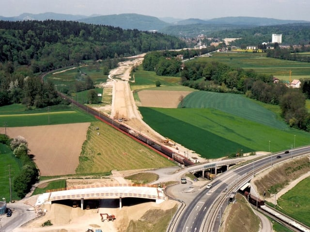 Bauarbeiten in der Landschaft