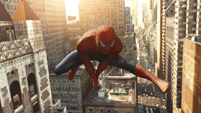 Spider Man in Aktion.