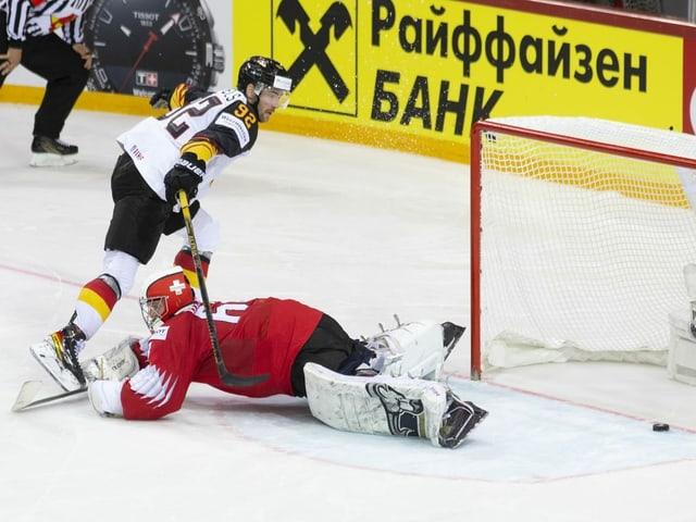 Szene aus einem Eishockey-Spiel