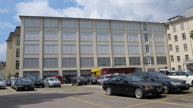 Der Westflügel des Industriegebäudes Kammgarn in Schaffhausen
