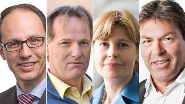 Marc Mächler (FDP), Andreas Graf (Parteifrei), Esther Friedli (SVP), Richard Ammann (BDP)