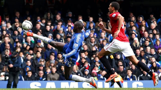 Demba Ba schoss mit seinem Traumtor Chelsea in den FA-Cup-Halbfinal.